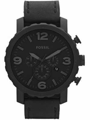 Fossil メンズブラッククロノグラフxラージ時計 JR1354