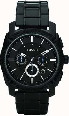 Fossil メンズブラッククロノグラフブレスレットウォッチ FS4552