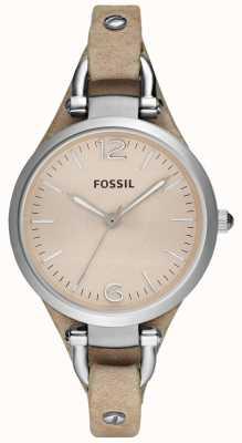 Fossil レディースアナログレザーストラップストラップ ES2830