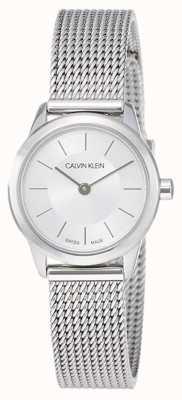 Calvin Klein レディースミニマル|ステンレスメッシュストラップ| K3M23126