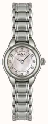 Rotary レディースストーンセットステンレススチール時計 LB02601/07