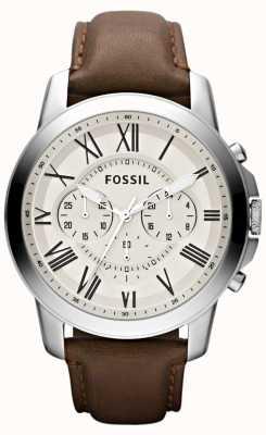 Fossil メンズクロノグラフレザーストラップ FS4735