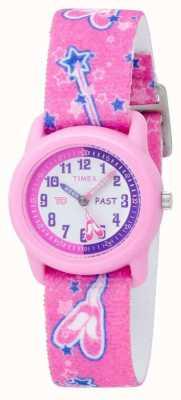 Timex キッズピンクのバレリーナアナログストラップウォッチ T7B151