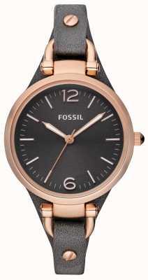 Fossil レディースレザーストラップアナログウォッチ ES3077
