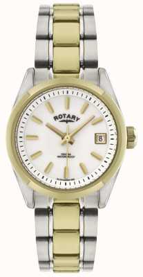 Rotary レディースハバナ|ツートンカラーのステンレススチールブレスレット| LB02661/11