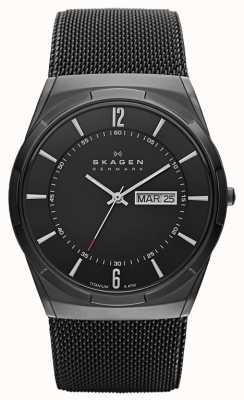 Skagen メンズアクテイブブラックイオンダイヤモンドブラックダイヤルウォッチ SKW6006