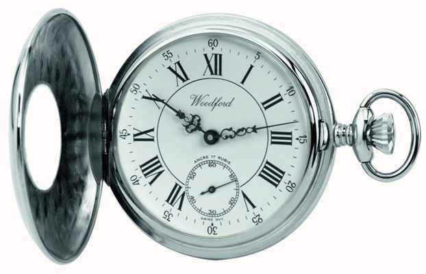 Woodford |ハーフハンター|クローム仕上げ|懐中時計| 1011