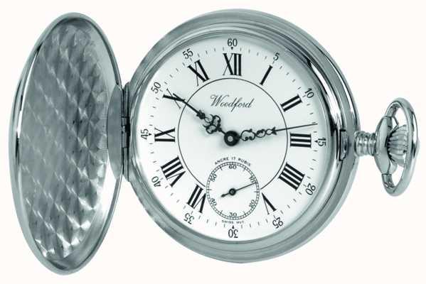 Woodford |フルハンター|クローム仕上げ|懐中時計| 1012