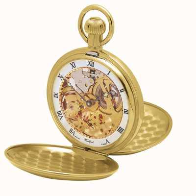 Woodford |ハンタースケルトン|二重蓋|ゴールドプレート|懐中時計| 1014