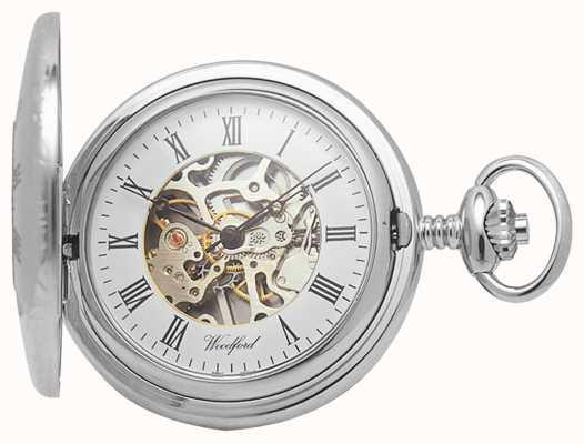 Woodford |ハーフハンター|クロムメッキ|スケルトン|懐中時計| 1020