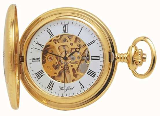 Woodford |ハーフハンター|金メッキ|スケルトン|懐中時計| 1021