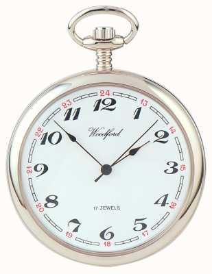 Woodford |開いた顔|クロムメッキ|懐中時計| 1023