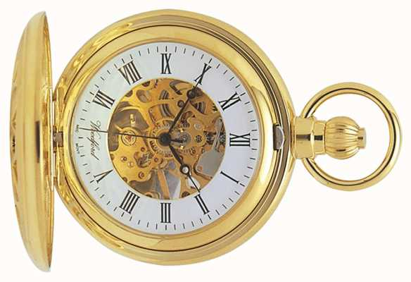 Woodford |ハンタースケルトン|金メッキカットアウト|懐中時計| 1029