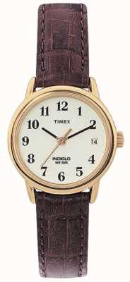 Timex レディースナチュラルブラウン簡単リーダー時計 T20071