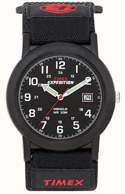 Timex メンズブラックキャンパー遠征腕時計 T40011
