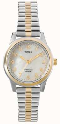 Timex レディース2トーンドレスエキスパンダーウォッチ T2M828