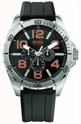 Hugo Boss Orange メンズステンレススチールブラックラバーストラップマルチダイヤルウォッチ 1512945
