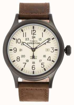 Timex メンズ遠征スカウト茶色の腕時計 T49963