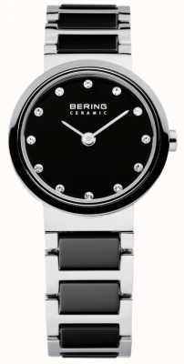 Bering 黒とシルバーセラミックのタイムレディース 10725-742