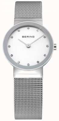 Bering タイムレディースシルバーメッシュウォッチ 10126-000