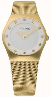 Bering タイムレディースゴールドメッシュウォッチ 11927-334