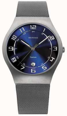 Bering メンズチタンダイヤルメッシュストラップメッシュ 11937-078