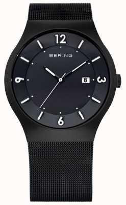 Bering メンズソーラーパワー、ブラックip腕時計 14440-222