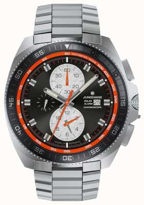 Junghans メンズ1972 chronoscopeソーラーステンレススチール腕時計 014/4202.44