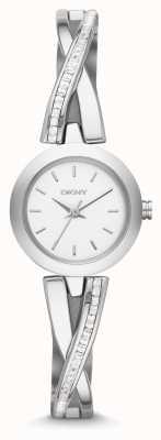 DKNY レディースクロスウォークシルバーストーンセット時計 NY2173
