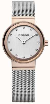 Bering 女性のクラシックバラのゴールドトーンの時計 10126-066