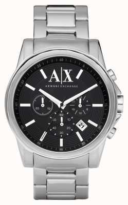 Armani Exchange メンズスマートステンレススチールクロノグラフブラックダイヤル AX2084