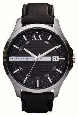 Armani Exchange メンズレザーストラップウォッチ AX2101