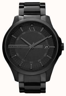 Armani Exchange メンズスマートブラックpvdメッキステンレス鋼 AX2104