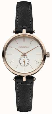 Barbour ラッセルブラックレザーストラップウォッチ BB011RSBK