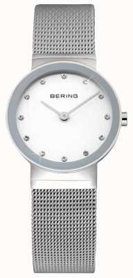 Bering レディースクラシック|ステンレスメッシュストラップ|白い顔| 10122-000