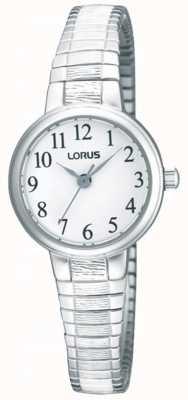 Lorus レディーススチールエキスパンダーブレスレットウォッチ RG239NX9
