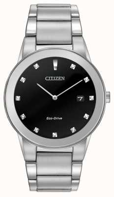 Citizen |メンズエコドライブ公理ブラックダイヤモンドダイヤル| AU1060-51G