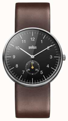 Braun メンズブラックブラウン腕時計 BN0024BKBRG