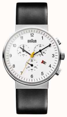 Braun ユニセックスクラシッククロノグラフウォッチ BN0035WHBKG