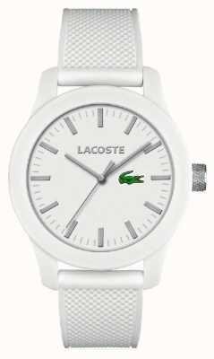 Lacoste メンズ12.12ホワイトシリコンストラップホワイトダイヤル 2010762