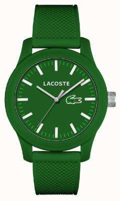 Lacoste メンズ12.12グリーンシリコンストラップグリーンダイヤル 2010763