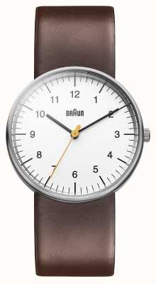 Braun メンズホワイトブラウン腕時計 BN0021WHBRG