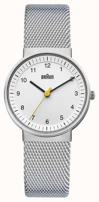 Braun レディースシルバーホワイトウォッチ BN0031WHSLMHL
