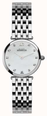 Michel Herbelin レディースイプシロン、ストーンセット、パールダイヤルウォッチ 1045/B59