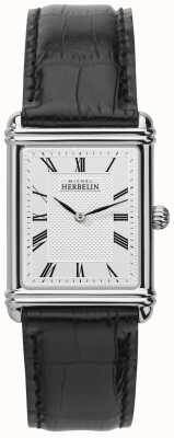 Michel Herbelin メンズ、アナログクォーツ、レザーストラップ 17468/08