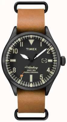Timex メンズthe waterburyライトブラウンレザーストラップ TW2P64700