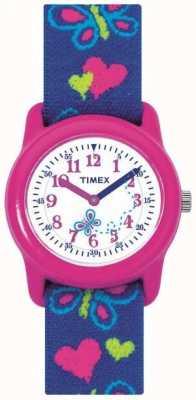 Timex 子供の子供の蝶ストラップ時計 T89001