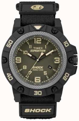Timex Mens遠征フィールド・ショック・グリーン・ダイヤル TW4B00900