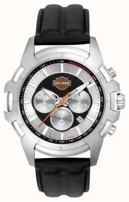 Harley Davidson メンズブラック&シルバースパイダーウェブデザイン 76B161