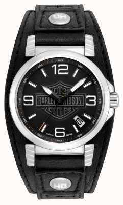 Harley Davidson メンズステンレススチールデイトウォッチ 76B163